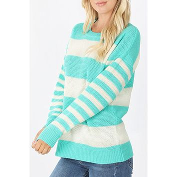 Striped Knit Sweater  (CLEARANCE)