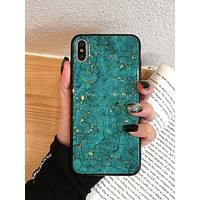 Marble Pattern Glitter iPhone Case