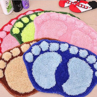 Cute Anti-slip Big Feet Absorbent Bathroom Mats Door Carpet Footprints Rugs LD = 1651270916