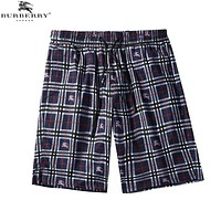 BURBERRY Popular Men Women Leisure Blue Plaid Print Sport Running Beach Shorts