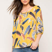 Feather Printed Blouse