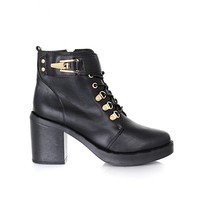 Missguided - Trevita Lace Up Ankle Heel Boots