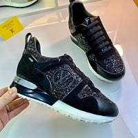 LV Fashion Women's Casual Running Sport Shoes Sneakers Slipper Sandals High Heels Shoes