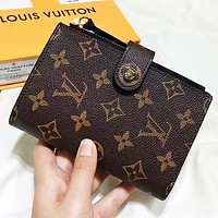 LV  Louis Vuitton New fashion monogram print leather wallet purse handbag