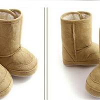 2014 Baby Childrens Shoes Boots Thick Warm Snow Boots Toddler Soft Leather Walking shoes 3 colors available