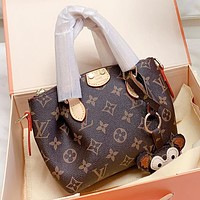 LV New fashion monogram print shoulder bag crossbody bag handbag