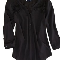 AEO Women's Paneled Lace Top