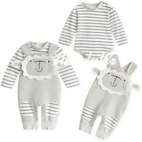 New 2016 Brand Baby Bodysuits Spring Cotton newborn baby girl clothes Summer baby boy clothes costume