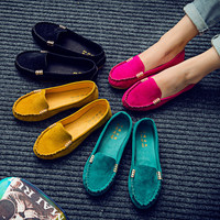 Flats loafers comfortable women shoes