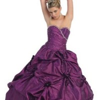 US Fairytailes Ball Gown Formal Prom Wedding Floral Dress #232