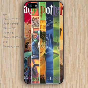 iPhone 5s 6 case collage Dream catcher colorful harry potter books phone case iphone case,ipod case,samsung galaxy case available plastic rubber case waterproof B444