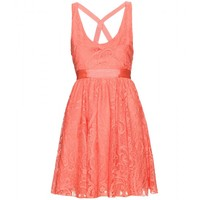 mytheresa.com -  Alice + Olivia - ODETTE DRESS WITH LACE OVERLAY - Luxury Fashion for Women / Designer clothing, shoes, bags
