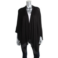 Collection Fiftynine Womens Knit Contrast Trim Cardigan Sweater