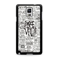 Pierce The Veil Song Lyric Samsung Galaxy Note 4 case