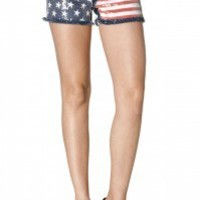 Star Flag With Studs Shorts