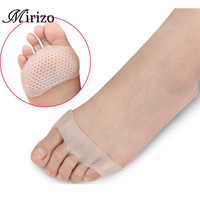 Cellular Breathable Soft Silicone Gel Toe Pads High heel shock absorption anti Slip-resistant metatarsal foot Pad Forefoot Pad