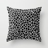 staklo (black with white) Throw Pillow by Trebam | Society6
