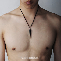 Sharp Pendulum Pendant Leather Necklace