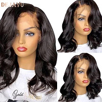 Dejavu Body Wave Lace Front Human Hair Wigs Remy Peruvian 150% Density 13X4