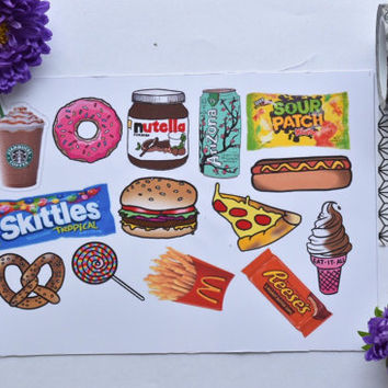 14+ Foodie tumblr stickers / food stickers / laptop sticker / phone sticker / decorative stickers