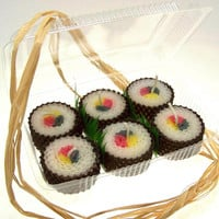 Sushi Candles Traditonal Set of 6 with Shipping Included