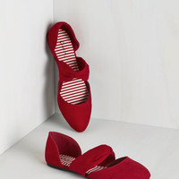 Nautical Three Strides and You're Haute Flat in Ruby