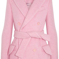 Carven Double-breasted brushed wool-blend coat  NET-A-PORTER.COM