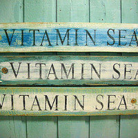 Beach House Sign Decor Wall Art - Vitamin Sea