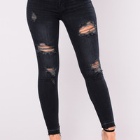 Irvine Distressed Jeans - Black