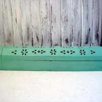 Spearmint  Incense Burner, Incense Coffin, Incense Box, Green Wooden Box, Shabby Chic Wooden Box, Gift Ideas