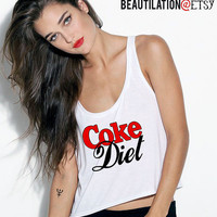 Coke Diet tank top by Beautilation on Etsy