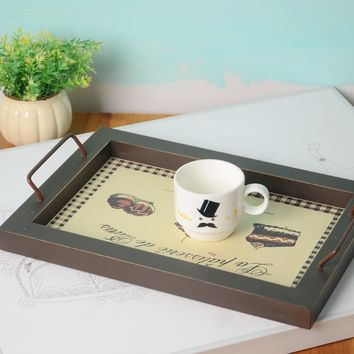 Decoration Creative Home Wooden Vintage Tray = 5893205121