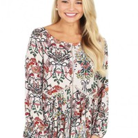 You And Me Top in Natural   Monday Dress Boutique