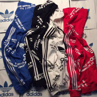 adidas Originals Print Hooded Pullover Tops Sweater Sweatshirts