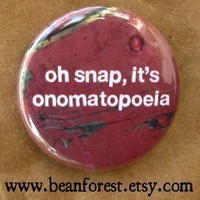 oh snap it's onomatopoeia by beanforest on Etsy