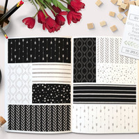 Silver Glitter Black and White Digital Paper Background Pack. Stripes, Quatrefoil, Arrows, Confetti Dots and Leaves graphic designs. 10 JPEG