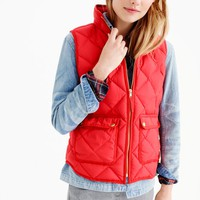 Excursion quilted down vest : Women 50% off select final sale styles | J.Crew