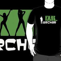 #jkl archer american series logo black t-shirt