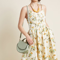 Worldly Wow Fit and Flare Dress
