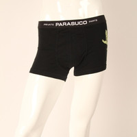 Parasuco Private Parts Underwear Black Men's Glow in the Dark Chimera Boxers