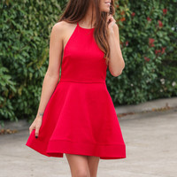 Bow Me a Kiss Dress - Red