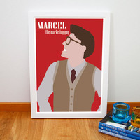 ONE DIRECTION Best Song Ever Harry Styles, Marcel The Marketing Guy - Print Art Original, 8x11