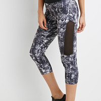 Abstract Print Capri Leggings