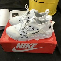 """Nike Air Huarache x Louis Vutitton x Supreme"" Unisex Sport Casual Fashion Letter Logo Sneakers Couple Running Shoes"