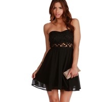 Promo- Kamilia- Black Homecoming Dress