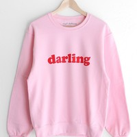 Darling Oversized Sweatshirt - Pink