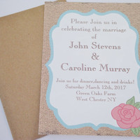 Rustic rose country wedding invitation sample ,save the date,rsvp