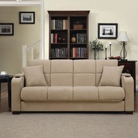 Handy Living Tyler Microfiber Storage Arm Convert-a-Couch and Sofa Bed, Multiple Colors - Walmart.com