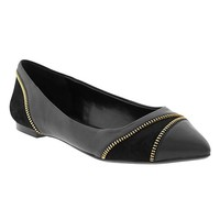 Cacey Zip Pointed-Toe Flat