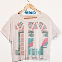 One Direction Aztec Sleeve Less Crop   fresh-tops.com